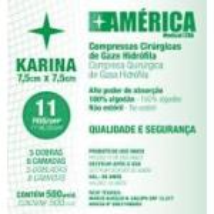 (A)Compressa Gaze 11 Fios C/ 500 Und Karina