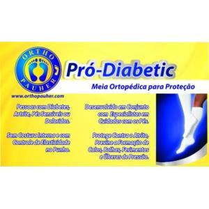 Meia Pro-Diabetic Sg-714 Cano Medio Ortho Pauher M BRANCO SG-714