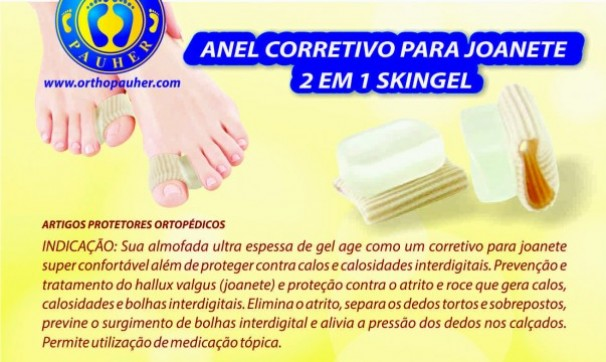 cc7f37267b Anel Corretivo Joanete G 2em1 Skingel Sg-326 Ortho Pauher