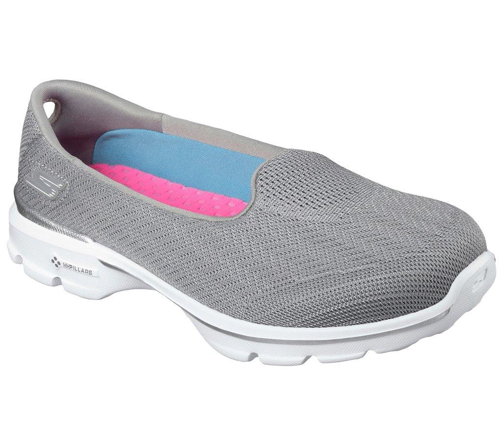 68aba67aa Sapatilha Skechers Go Walk 3 Insight 13983 Feminino 34 CINZA GRY