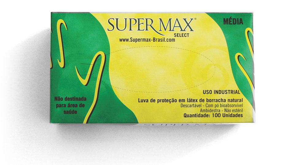 Luva Latex Com Talco P Industrial C 100 Und Select Supermax   Santa ... b42a0c6a53