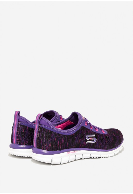 5ea76523a4 TENIS SKECHERS GLIDER DEEP SPACE 22722 FEMININO 37 ROXO PRPK. Ref.   1781700. Fotos. Previous. Foto 1 ...
