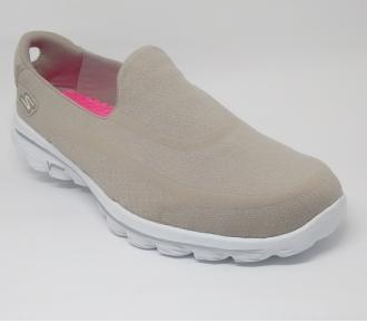 (F)Sapato Go Walk 2 Bege Skechers 13947 Xxf37