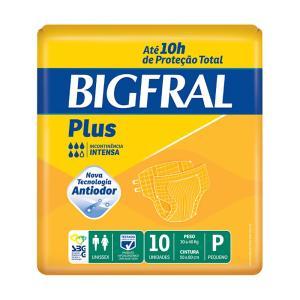 Fralda Bigfral Plus Pequena Combo Fardo Com 8 Pacotes