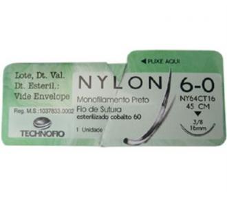 Fio Sutura Mononylon 6-0 C/Agulha Technofio