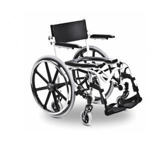 (B)Cadeira Banho Aluminio H1 46 Branca Ortobras