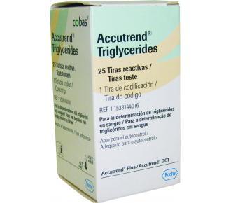 (C)Accutrend Triglicerídeos Roche Com 25 Tiras