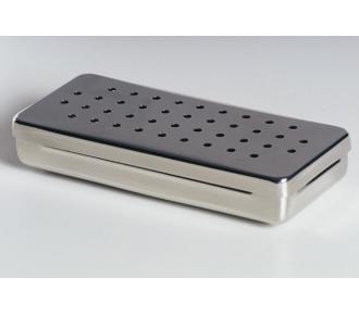 (F)Estojo Inox Perfurado 20x10x5cm Fami