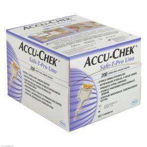 Lanceta Accu-Chek Safe-T Pro Uno Com 200 Unidades