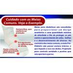 (D)Meia Pro-Diabetic M Branca/Azul Ortho Pauher   SG713-M