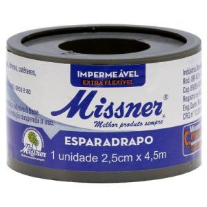 Esparadrapo Impermeavel Branco 2,5cmx4,5m Missn