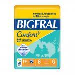FRALDA CONFORT GRANDE C/8 UND BIGFRAL