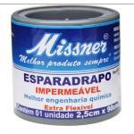 (F)Esparadrapo Impermeavel Branco 2,5cmx0,90m Missner
